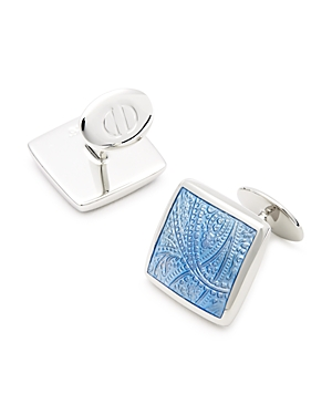 David Donahue Sterling Silver Paisley Cufflinks