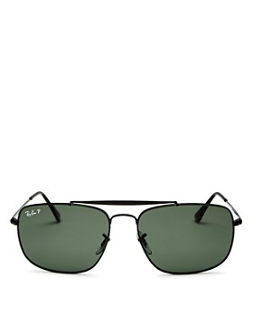 Ray-Ban - Men's Polarized Brow Bar Aviator Sunglasses, 61mm