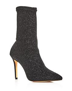 SCHUTZ - Women's Sciarpe Glitter Stretch High-Heel Booties