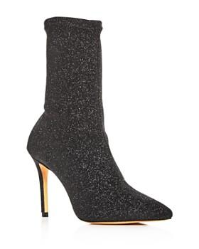 ca117d4b7c1 SCHUTZ - Women s Sciarpe Glitter Stretch High-Heel Booties ...
