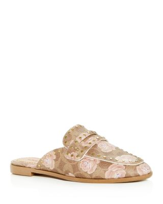 COACH Women's Fiona Floral Loafer Mules