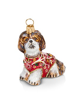 Joy to the World - Silk Shih Tzu Ornament