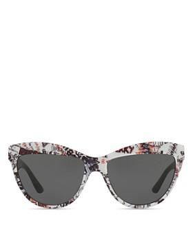 Burberry - Graffiti Cat Eye Sunglasses, 56mm