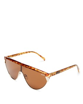 Quay - Women's QUAY X ELLE FERGUSON Goldie Shield Sunglasses, 100mm