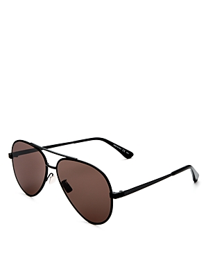 Saint Laurent Men\\\'s Classic Zero Brow Bar Aviator Sunglasses, 60mm-Men
