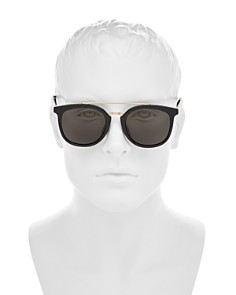 Gucci - Men's Brow Bar Round Sunglasses, 52mm
