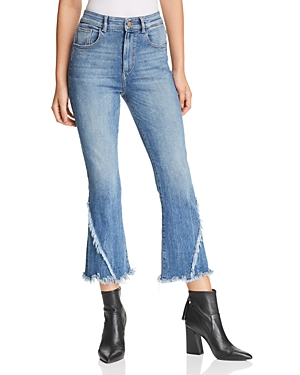 Dl DL1961 WALLACE HIGH RISE CROP FLARE JEANS IN BRIGGS