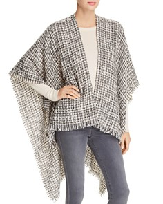 Echo - Metallic Tweed Ruana