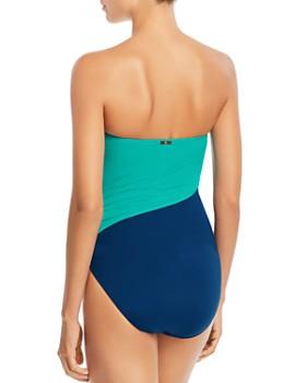 a18cbfa7794 ... Ralph Lauren - Glamour Color-Block Bandeau One Piece Swimsuit