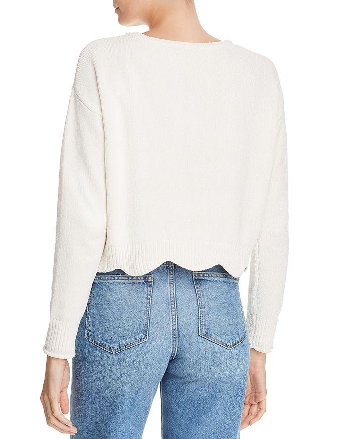 265e3f167db AQUA Scalloped Cropped Chenille Sweater - 100% Exclusive ...