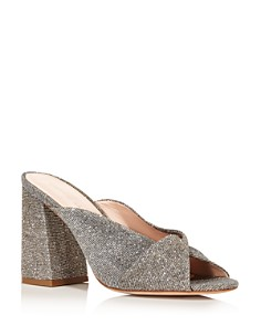 Loeffler Randall - Women's Laurel Knotted Glitter High-Heel Sandals