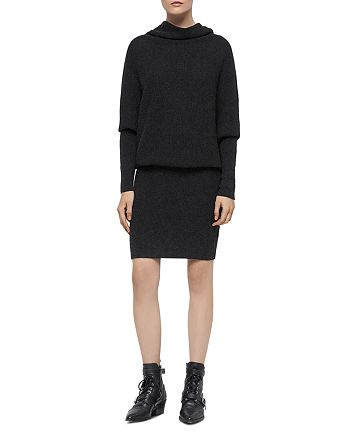 Allsaints Ridley Cowl Neck Sweater Dress Bloomingdales