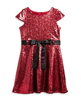 US Angels - Girls' Sequin Dress with Satin Sash - Little Kid