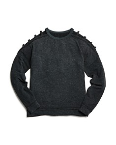 So Nikki... - Girls' Hacci Cutout Sweater Top - Big Kid