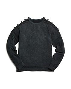 So Nikki... - Girls' Hacci Cutout Sweater Top - Big Kid