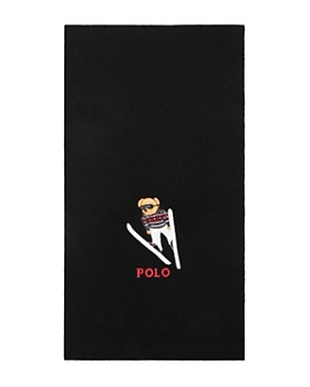 Polo Ralph Lauren - Embroidered Ski Bear Scarf