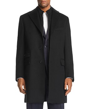 Corneliani - Wool Topcoat w/ Zip-Out Bib