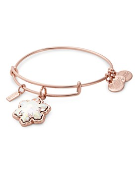Alex And Ani Crystal Snowflake Expandable Charm Bracelet