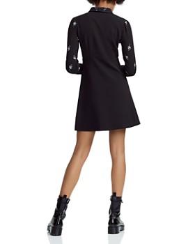 Maje - Riwest Embroidered A-Line Shirt Dress