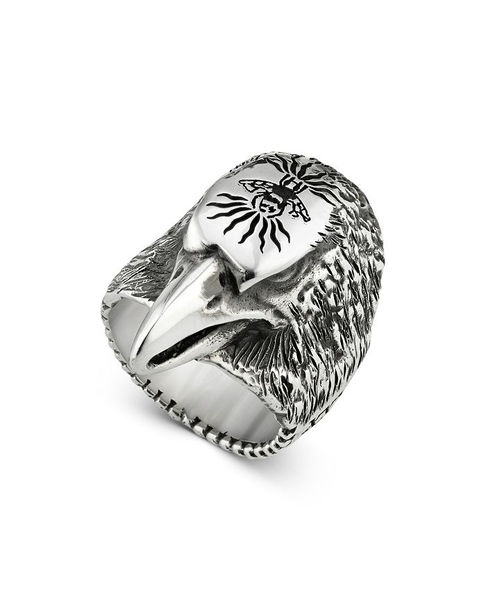 Gucci - Sterling Silver Small Eagle Head Ring