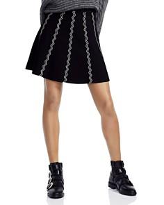 Maje - Jigole Chevron-Pattern Skirt