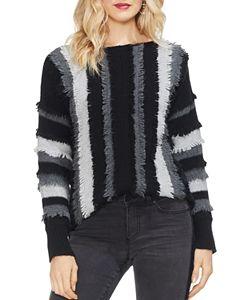 00d026f01e VINCE CAMUTO Striped Fringe-Trim Sweater