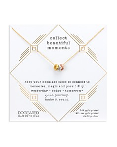 """Dogeared - Collect Beautiful Moments Necklace in 14K Gold-Plated Sterling Silver, 16"""""""