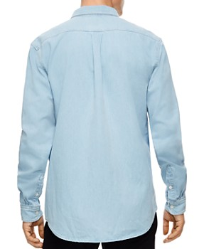 Sandro - Heritage Slim Fit Chambray Button-Down Shirt