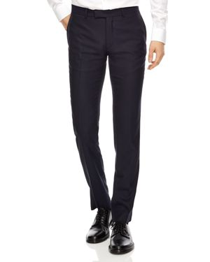 Sandro Hopsack Wool Slim Fit Pants