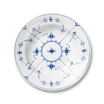"""Royal Copenhagen - """"Blue Fluted Plain"""" Rim Soup Plate"""