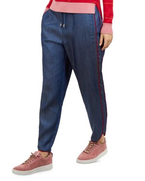 Colour By Numbers Jostell Jogger Pants in Mid-Wash
