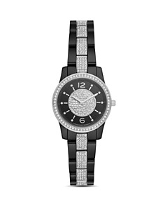 Michael Kors - Petite Runway Embellished Black Watch, 28mm
