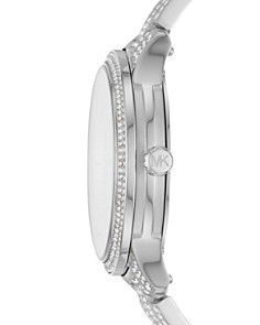 Michael Kors - Runway Silver-Tone Pavé Crystal Watch, 38mm