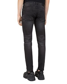 The Kooples - Japanese Denim Skinny Jeans in Black Washed