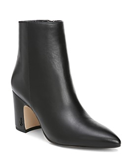 Sam Edelman - Women's Hilty Pointed Toe Block High-Heel Ankle Booties
