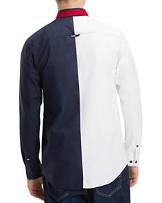 Tommy Jeans - Color-Block Regular Fit Button-Down Shirt