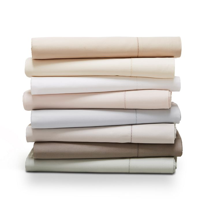 Hudson Park Collection - 680TC Flat Sateen Sheet, Full - 100% Exclusive