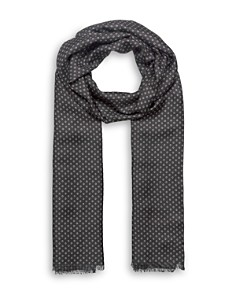 The Kooples - Circle Print Fringed Scarf
