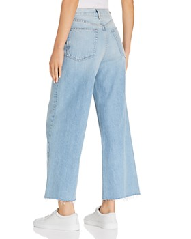rag & bone/JEAN - Haru High-Rise Wide-Leg Jeans in Waves