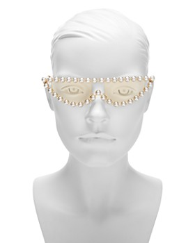 Gucci - Women's Simulated Pearl-Embellished Cat Eye Sunglasses, 53mm