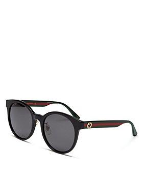 Gucci - Women's Web Round Sunglasses, 55mm