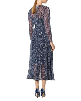 L.K.Bennett - Beya Printed Flutter-Hem Dress