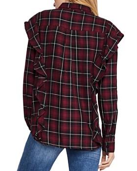 BCBGeneration - Ruffled Plaid Shirt