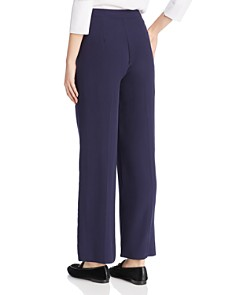 Eileen Fisher Petites - Silk Tuxedo-Striped Pants