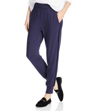 Eileen Fisher Petites Velvet-Stripe Jogger Pants