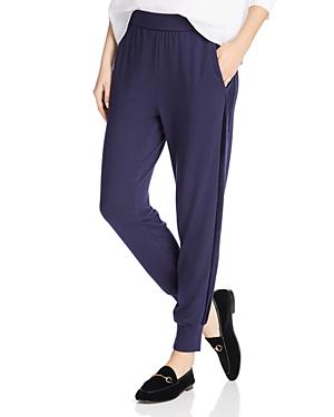 Eileen Fisher Velvet-Stripe Jogger Pants