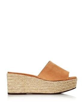 SCHUTZ - Women's Thalia Suede Espadrille Platform Sandals