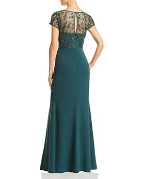 Adrianna Papell - Embellished Crepe Gown