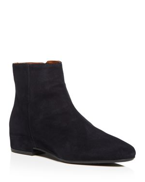 Women'S Ulyssaa Weatherproof Suede Hidden Wedge Booties in Navy Suede