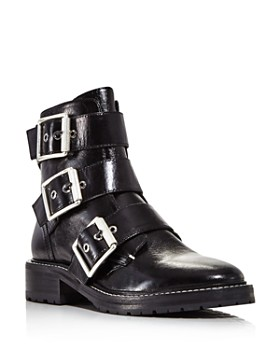 50f548ee03 rag & bone - Women's Cannon Buckle Patent Leather Booties ...